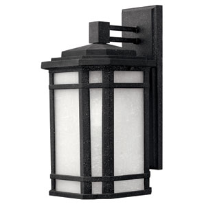 Cherry Creek Vintage Black 15-Inch One-Light Outdoor Wall Mount