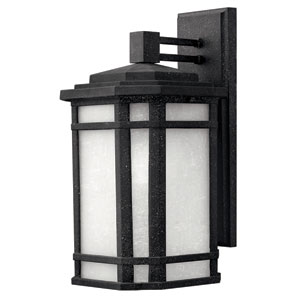 Cherry Creek Vintage Black 15-Inch One-Light Fluorescent Outdoor Wall Mount