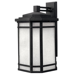 Cherry Creek Vintage Black 21-Inch One-Light Outdoor Wall Mount