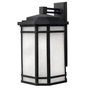 Cherry Creek Vintage Black 21-Inch One-Light Fluorescent Outdoor Wall Mount