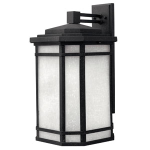 Cherry Creek Vintage Black Large One-Light LED Outdoor Wall Light