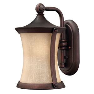 Thistledown Victorian Bronze 13.5-Inch One-Light LED Outdoor Wall Sconce
