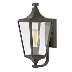 Jaymes Oil Rubbed Bronze One-Light Outdoor Small Wall Mount