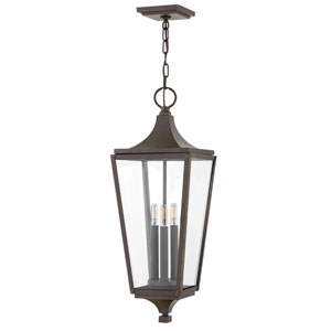 Jaymes Oil Rubbed Bronze Three-Light Outdoor Hanging Light