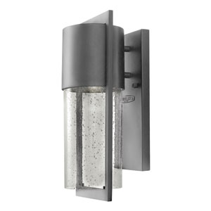 Shelter Hematite One-Light Outdoor Wall Sconce