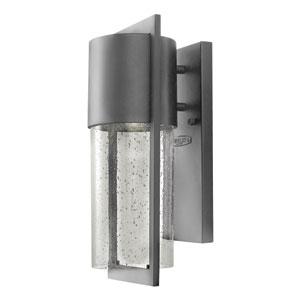 Shelter Hematite 6-Inch One-Light LED Outdoor Wall Light