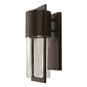 Shelter Buckeye Bronze 6-Inch One-Light LED Outdoor Wall Light