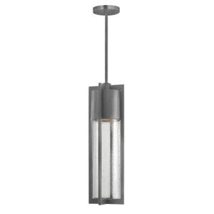 Shelter Hematite One-Light LED Outdoor Pendant