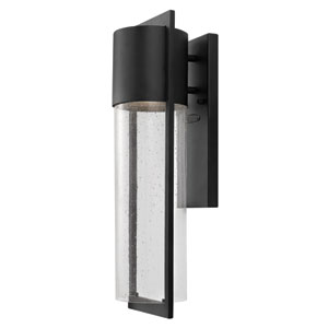 Shelter Black One-Light Medium Outdoor Wall Light