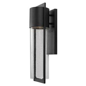Shelter Black One-Light Medium Fluorescent Outdoor Wall Light