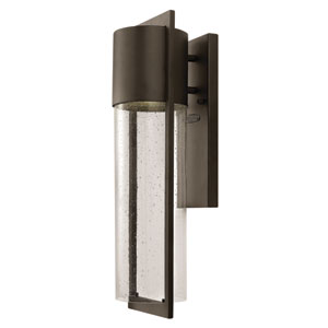 Shelter Buckeye Bronze Medium One-Light LED Outdoor Wall Light