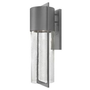 Shelter Hematite Large One-Light LED Outdoor Wall Light