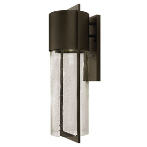 Shelter Buckeye Bronze Large One-Light LED Outdoor Wall Light