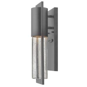 Shelter Hematite 4.5-Inch Wide One-Light Outdoor Wall Light