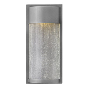 Shelter Hematite 12-Inch One-Light LED Outdoor Wall Mount