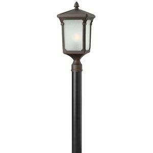 Stratford Oil Rubbed Bronze 21-Inch One-Light Outdoor Post Mount