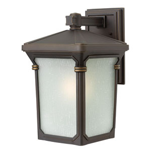 Stratford Oil Rubbed Bronze 16-Inch One-Light Outdoor Wall Light