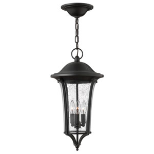 Chesterfield Black 20.5-Inch Three Light Outdoor Hanging Lantern