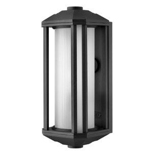 Castelle Black One-Light Small Fluorescent Outdoor Wall Light