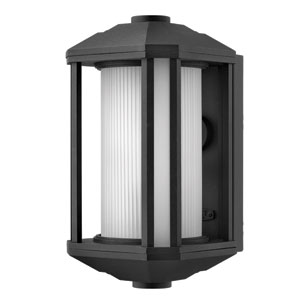 Castelle Black 13.5-Inch One-Light LED Outdoor Wall Sconce