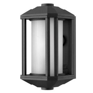 Castelle Black One-Light Mini Fluorescent Outdoor Wall Light