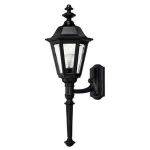Manor House Black 25-Inch Outdoor Wall Mount