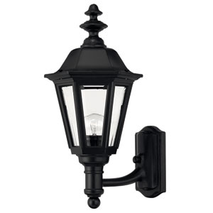 Manor House Black 19-Inch Outdoor Wall Mount