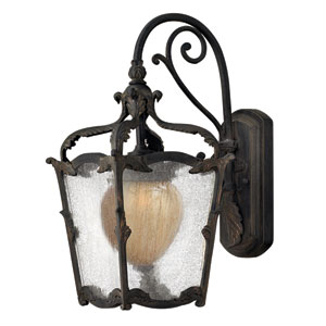 Sorrento Aged Iron Small Outdoor Wall Mount