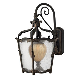 Sorrento Aged Iron Medium Outdoor Wall Mount