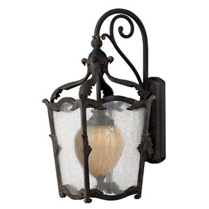 Sorrento Aged Iron Large Outdoor Wall Mount