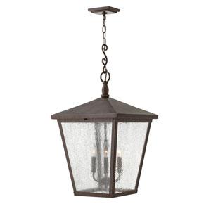 Trellis Regency Bronze 16-Inch Four-Light Outdoor Hanging Pendant
