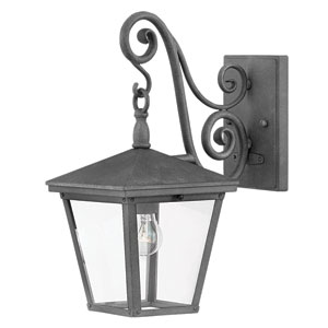 Trellis Aged Zinc One-Light Outdoor Wall Mount