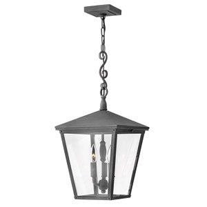 Trellis Aged Zinc Three-Light Outdoor Pendant
