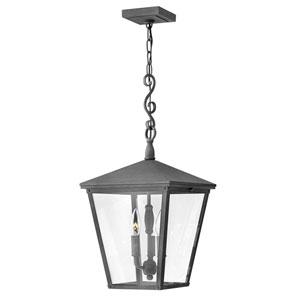 Trellis Aged Zinc 11-Inch Three-Light Outdoor Hanging Pendant