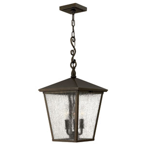 Trellis Regency Bronze Three-Light Outdoor Pendant