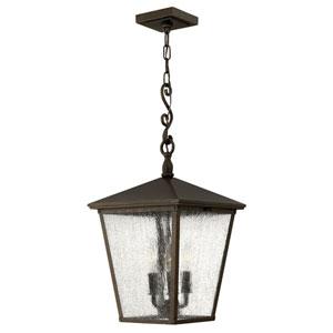 Trellis Regency Bronze 11-Inch Three-Light Outdoor Hanging Pendant