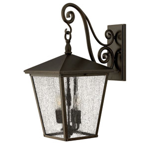 Trellis Regency Bronze Large Three-Light Outdoor Wall Light