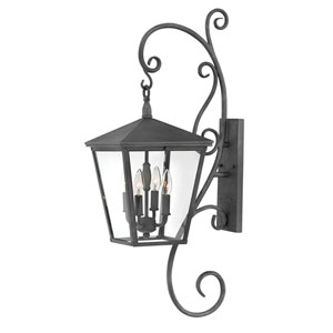 Trellis Aged Zinc 36-Inch Four-Light Outdoor Large LED LED Wall Mount
