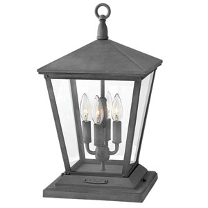 Trellis Aged Zinc Four-Light Outdoor Post Mount