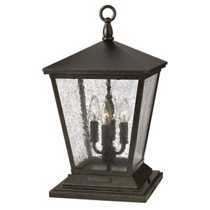 Trellis Regency Bronze Four Light Outdoor Wall Lantern