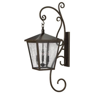 Trellis Regency Bronze 52-Inch Four Light Outdoor Wall Lantern