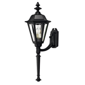 Manor House Black 31-Inch Outdoor Wall Mount