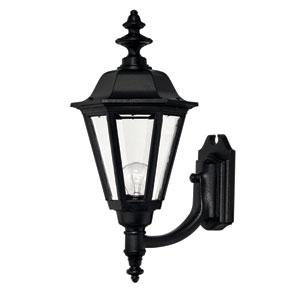 Manor House Black 21-Inch Outdoor Wall Mount