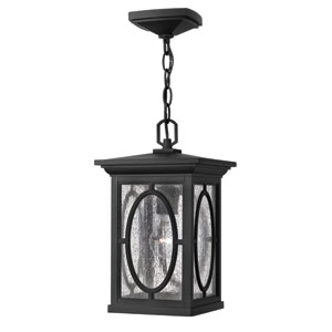 Randolph Black 14-Inch One-Light Outdoor Hanging Pendant with Chain