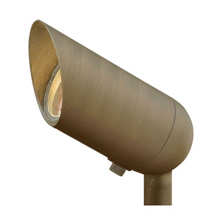 Hardy Island Matte Bronze LED 2700K 410 Lumen Flood Beam Landscape Spotlight