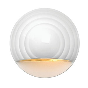 Matte White LED Round Landscape Deck Light
