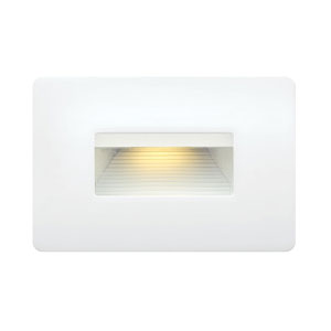 Luna Satin White LED Landscape Deck Light