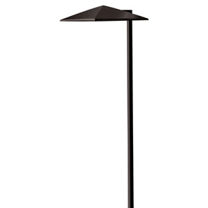 Harbor Satin Black LED Landscape Path Light