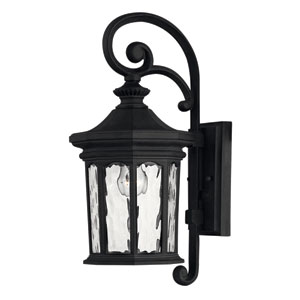 Raley Small Museum Black Outdoor Wall Mount
