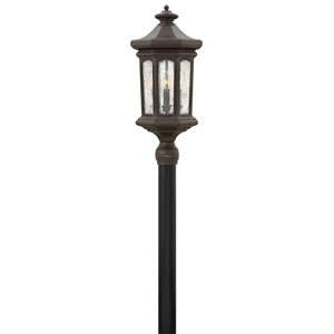 Raley Oil Rubbed Bronze 12-Inch Four-Light Outdoor LED Post Top and Pier Mount